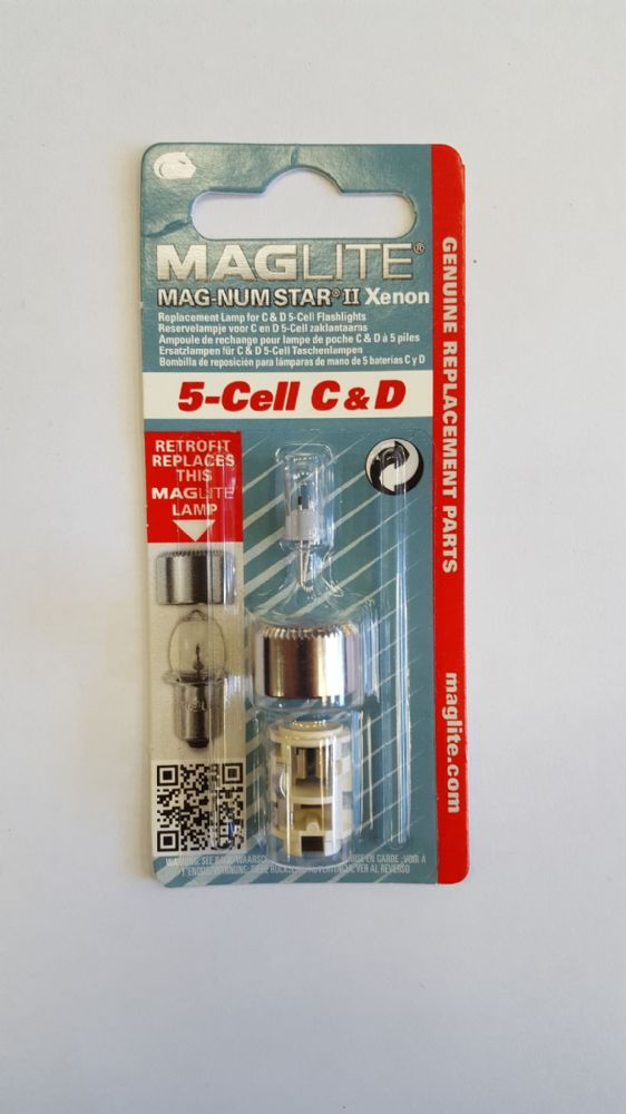 cell C /& D Bulb Replacement Lamp Genuine New Maglite Mag-num star II Xenon 5