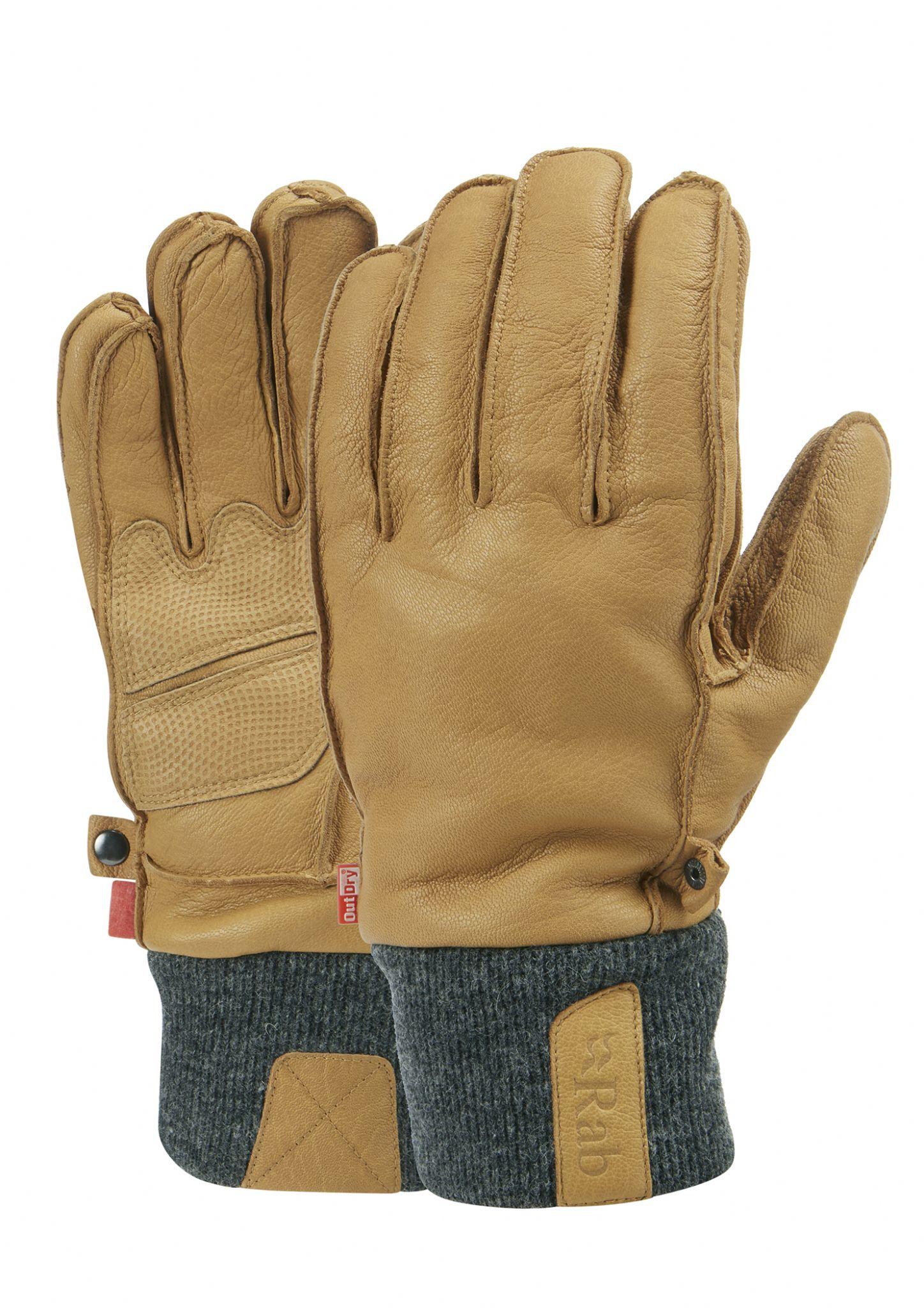 47d91ba8f841d Rab Mens Treeline Glove - Leather Waterproof Hard Wearing