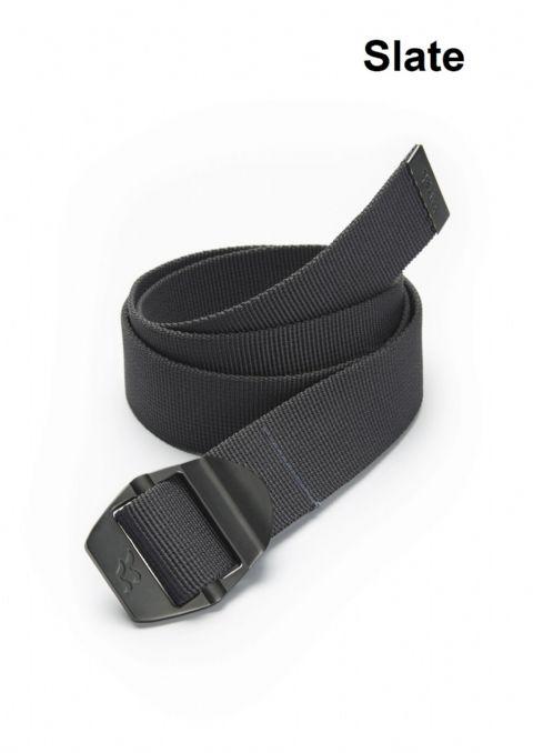 Jack Wolfskin Webbing Belt Wide Burnt Olive Rope Brown Black